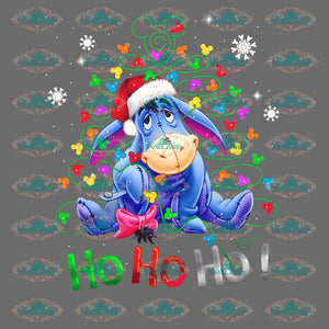 Ho Ho Eeyore Costume Disney Disneyland Winter Christmas Merry Gift Outfit Png Digital
