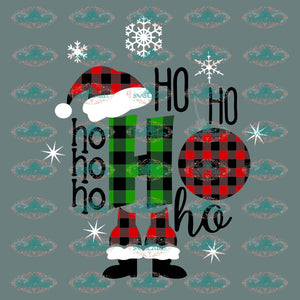 Ho Ho Santa Hat Winter Christmas Svg Decor Gift Merry Outfit Ornament Png Digital