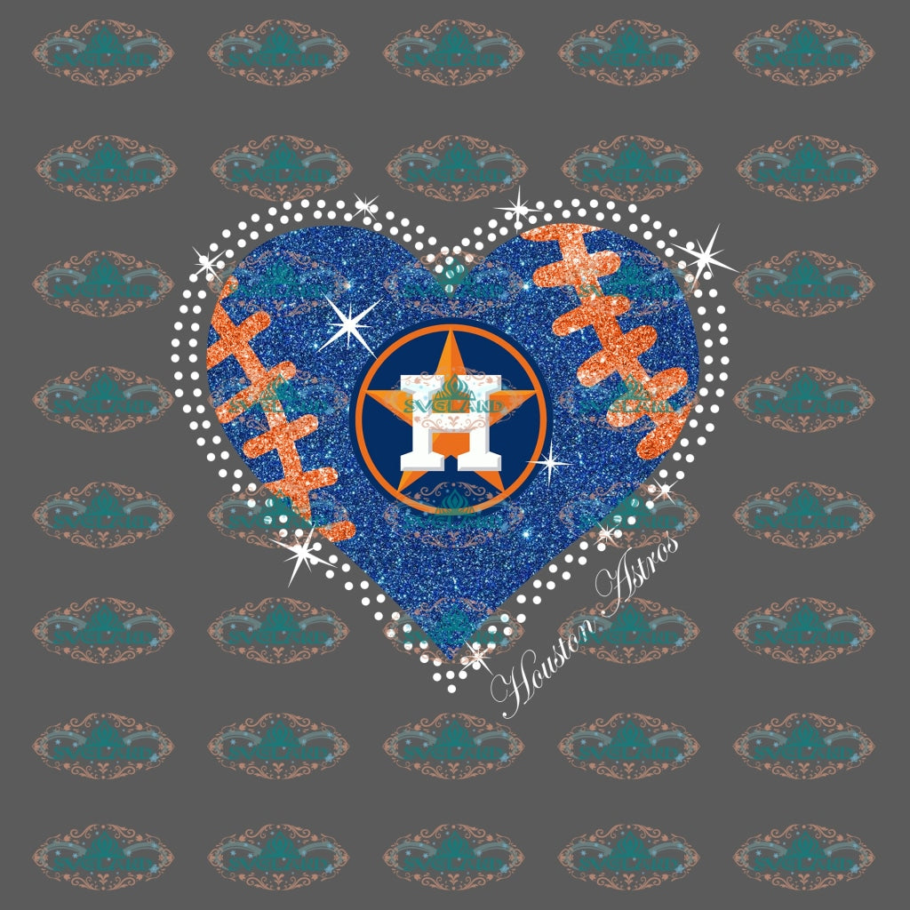 Houston Astro Heart Fans Png Baseball Shirt Lover Digital