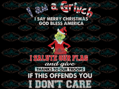 I Am A Grinch Salute Our Flag Dr Seuss Png File Digital