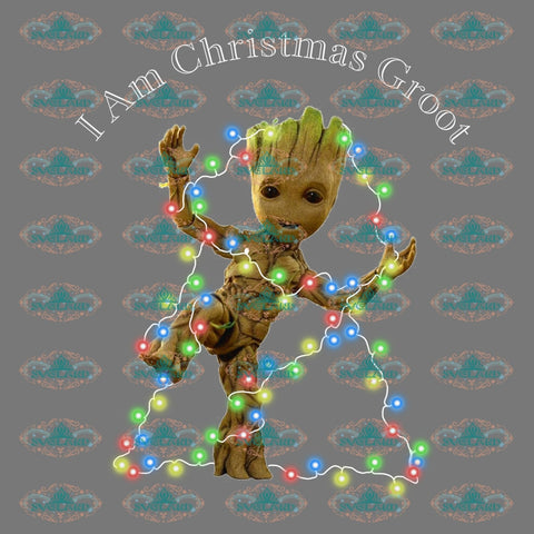 I Am Christmas Groot Star War Winter Christmas Merry Gift Outfit Ornament Png Digital
