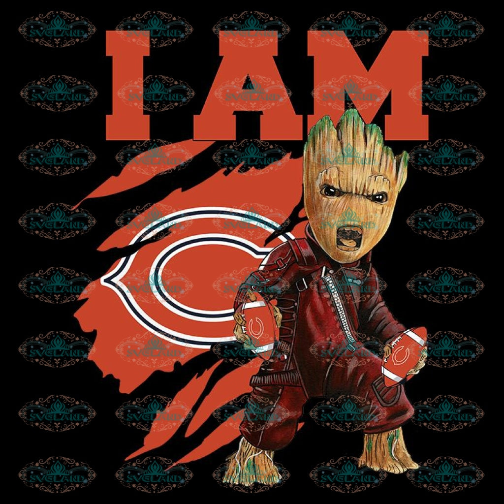 I Am Groot PNG Chicago Bears PNG, NFL PNG, Football PNG, Football Mom PNG, Printable 300 DPI