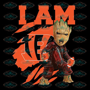 I Am Groot PNG Cincinnati Bengals PNG, NFL PNG, Football PNG, Football Mom PNG, Printable 300 DPI