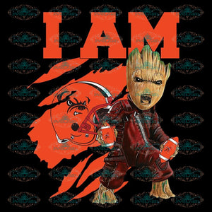 I Am Groot PNG Cleveland Browns PNG, NFL PNG, Football PNG, Football Mom PNG, Printable 300 DPI