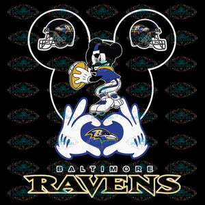I Love The Ravens Mickey Mouse Baltimore Ravens Svg, Cricut File, Clipart, NFL Svg, Sport Svg, Football Svg, Baltimore Svg