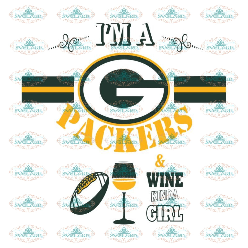 I'm A Packers & Wine Svg, Green Bay Packers Svg, Packers Quotes, Cricut Silhouette, Clipart, NFL Svg, Football Svg, Sport Svg