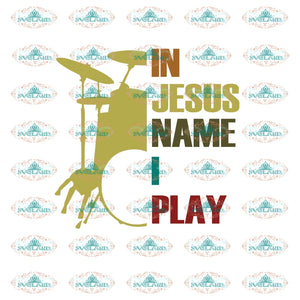 In Jesus Name I Play Guitar Svg Lover Vintage Shirt Jesus Gift For Friend Digital