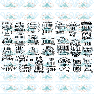 Inspirational Quotes Funny Bundle Files Gift For Friend Svg Digital