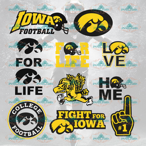 Iowa Hawkeyes Football Svg Team Logo Fans College Bundle File Nfl Ncaa Digital