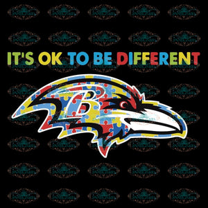 It's Ok To Be Different Svg, Baltimore Ravens Svg, Baltimore Ravens Svg, NFL Svg, Sport Svg, Football Svg, Cricut, Clipart