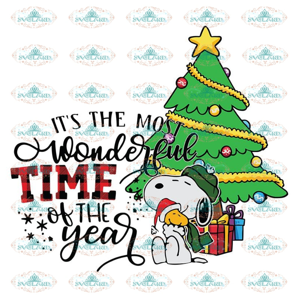 It S The Most Wonderful Time Of The Year Svg Christmas Svg Cricut Fi Svglandstore