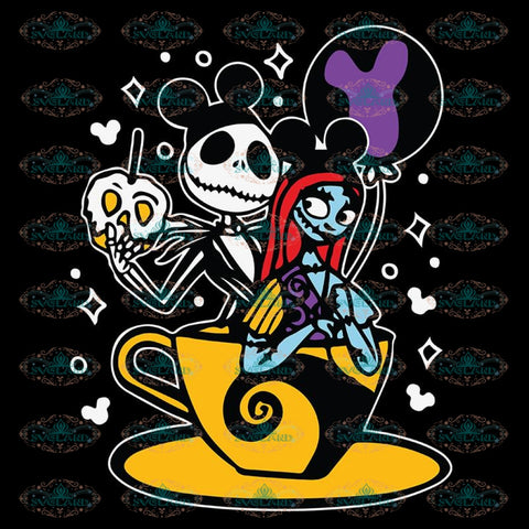 Jack and Sally Svg, The Nightmare Before Christmas Svg, Jack Skellington Svg, Jack Svg, Halloween Svg, Christmas Svg, Cricut File, Clipart, Vacay Mode