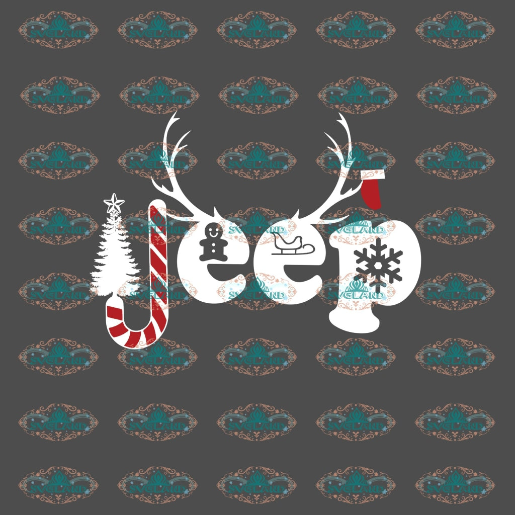 Jeep Reindeer Candy Christmas Items Winter Christmas Svg Decor Gift Merry Outfit Digital
