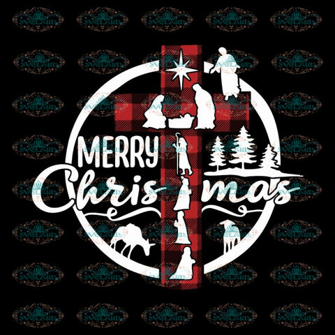 Jesus Christmas Svg, Merry Christmas Svg, Buffalo Plaid Svg, Cricut File, Jesus Svg, Christmas Svg, Clipart, Svg, Png, Eps, Dxf