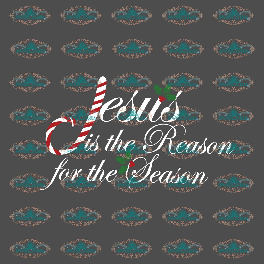 Jesus Is He Reason For The Season Christmas Candy Religion Shirt Jesus Svg Winter Christmas Decor