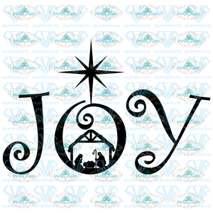 Joy Svg Christmas Quote Merry Nativity Manger Stable Jesus Bible Digital