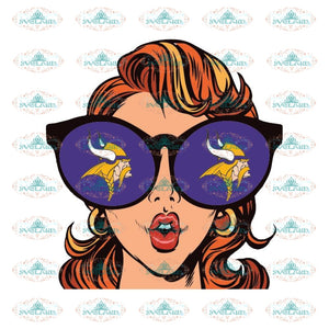 Just A Girl In Love With Her Minnesota Vikings Svg, Cricut File, Clipart, NFL Svg, Sport Svg, Football Svg