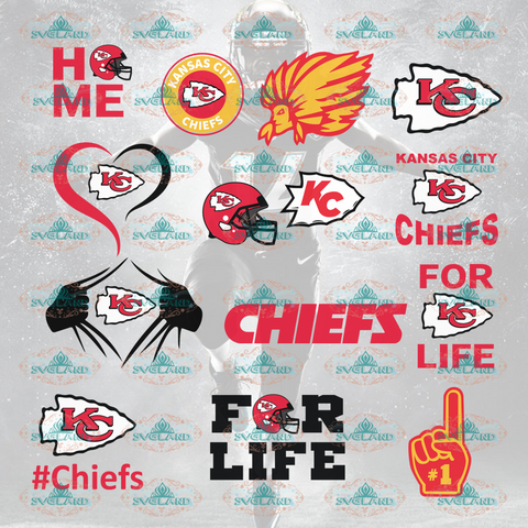 Kansas City Chiefs Kc Svg Kansas Football Fan Bundle File Nfl Ncaa Digital