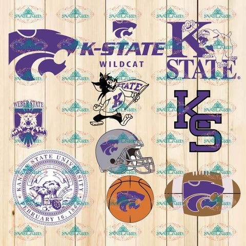 Kansas State Wildcats Svg Png Ncaa Sports Lovers Basketball Professional Team Digital