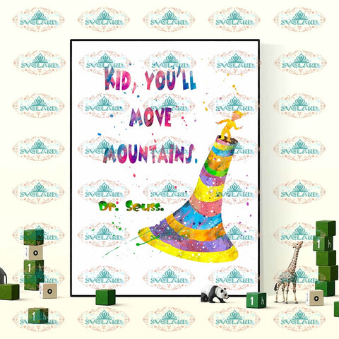 Kid You Will Move Moutains Dr Seuss Png Digital