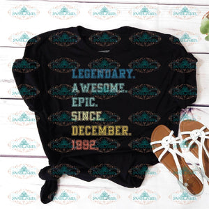 Legendary Awesome Epic Since December 1992 27 Years Old Birthday Svg Party Gift Shirt Vintage Ideal