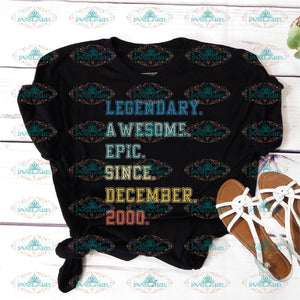 Legendary Awesome Epic Since December 2000 19 Years Old Birthday Svg Party Gift Shirt Vintage Ideal