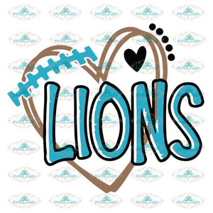 Lions Love Svg, Football Lions Svg, Love Lions Svg, NFL Svg, Cricut File, Clipart, Detroit Lions Svg, Football Svg, Sport Svg, Love Football Svg15
