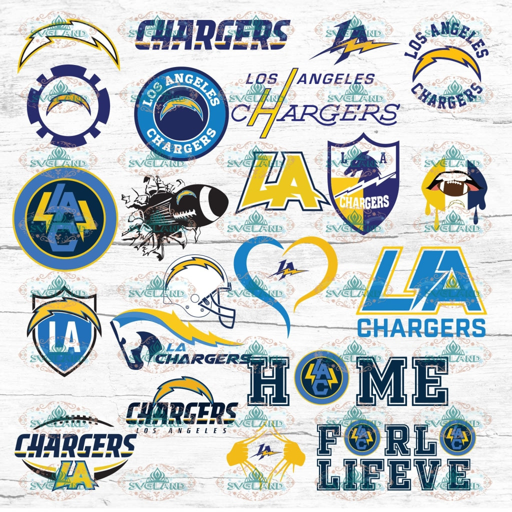 Los Angeles Chargers Bundle File Football Team Baseball Fan College Svg Nfl Ncaa Digital