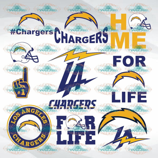 Los Angeles Chargers Bundle File Team Baseball Fan College Football Svg Nfl Ncaa Digital