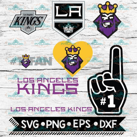 Los Angeles Kings Hockey Team, Hockey logos, Svg, NHL, Bundle, Sport