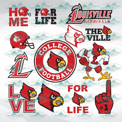 Louisville Cardinals Football Bundle File Team College Shirt American Nfl Ncaa Digital