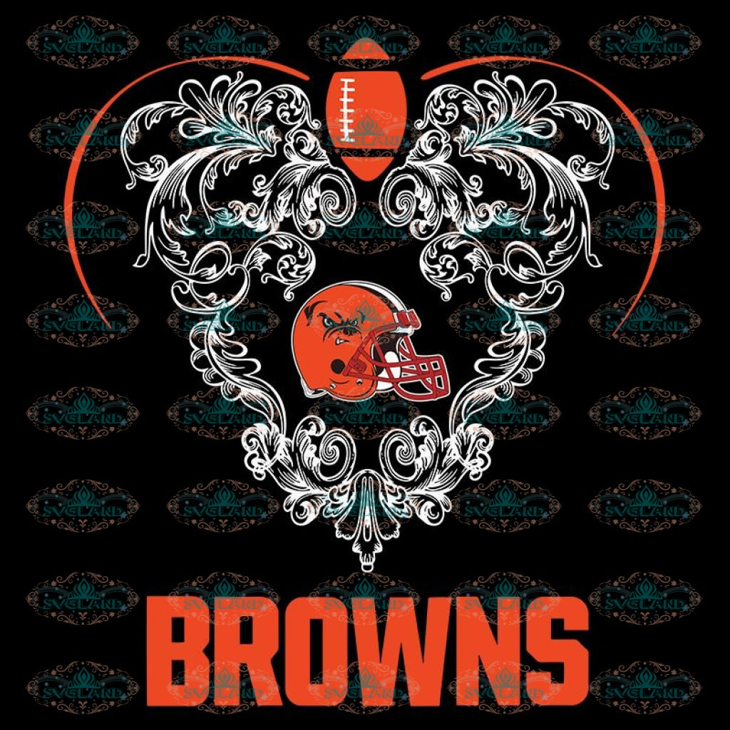 Love Browns Svg, NFL Svg, Cricut File, Clipart, Cleveland Browns Svg, Football Svg, Sport Svg, Love Football Svg, Heart Svg, Png, Eps, Dxf