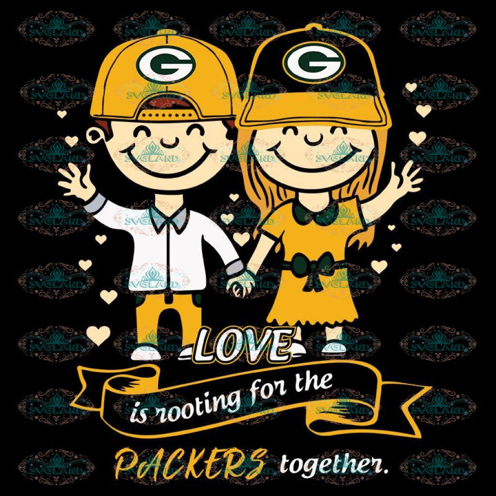 Love In Rooting For The Packers Together Svg, NFL Svg, Cricut File, Clipart, Green Bay Packers Svg, Football Svg, Sport Svg, Love Football Svg, Png, Eps, Dxf