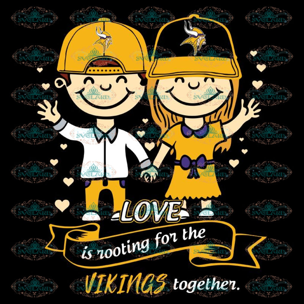 Love In Rooting For The Vikings Together Svg, NFL Svg, Cricut File, Clipart, Minnesota Vikings Svg, Football Svg, Sport Svg, Love Football Svg, Png, Eps, Dxf
