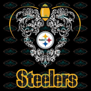 Love Steelers Svg, NFL Svg, Cricut File, Clipart, Pittsburgh Steelers Svg, Football Svg, Sport Svg, Love Football Svg, Heart Svg, Png, Eps, Dxf