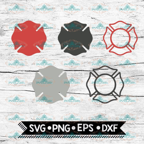 Maltese Cross, Bundle Svg, Fire Department svg, Fire Badge Symbol, Firefighter, Emblem 3