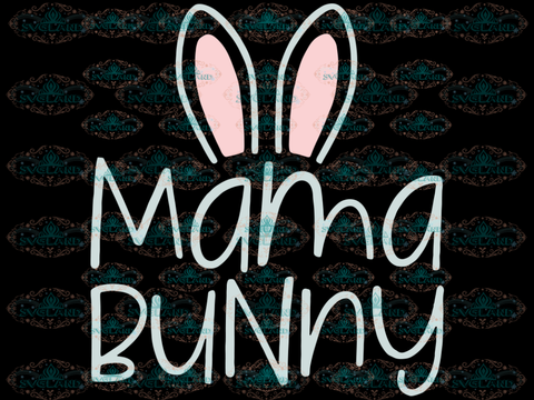 Mama Bunny Svg Easter Files Kids For Cricut Women Digital