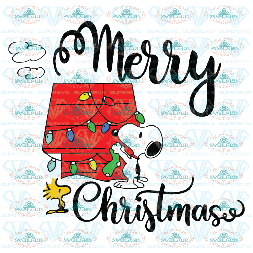 Merry Christmas Snoopy Svg Gift For Christmas Lights Svg Digital