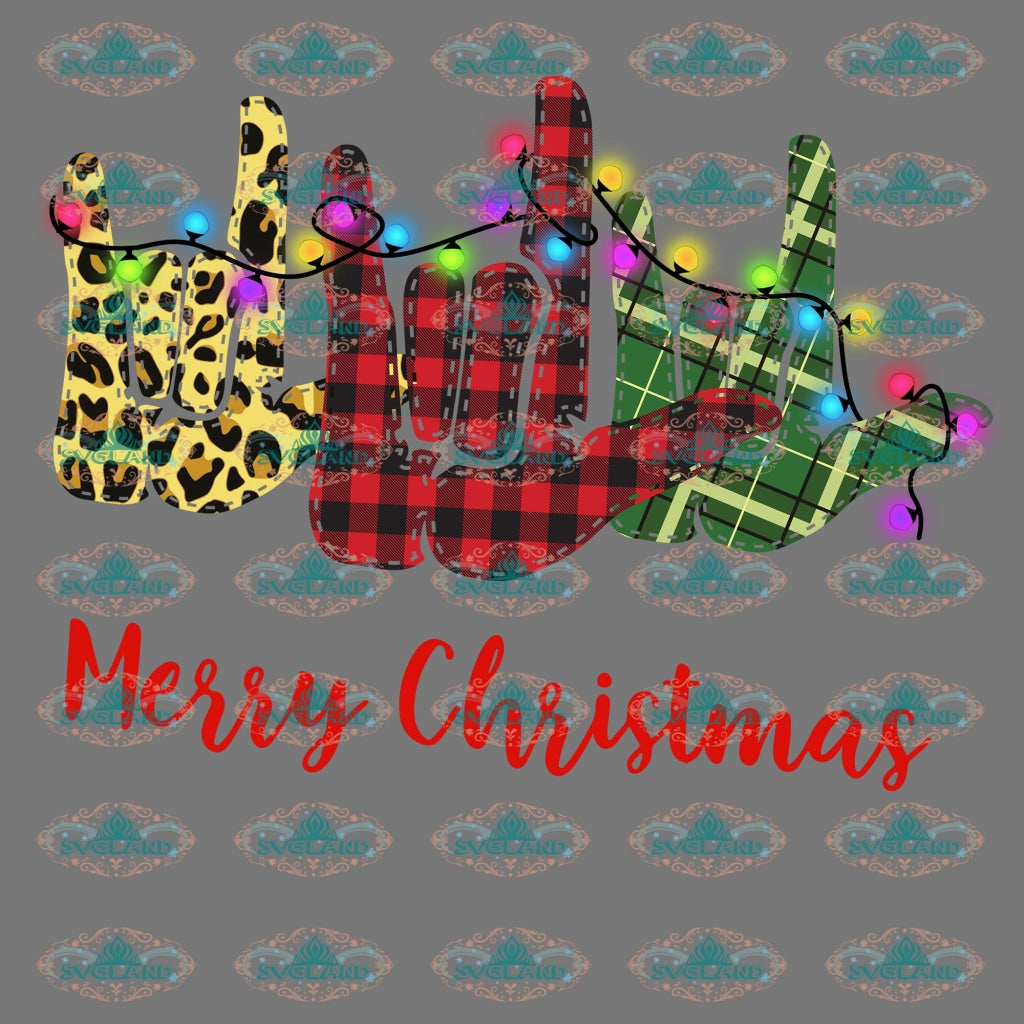 Merry Christmas Trees Hand Sign Design Winter Christmas Gift Outfit Png Digital