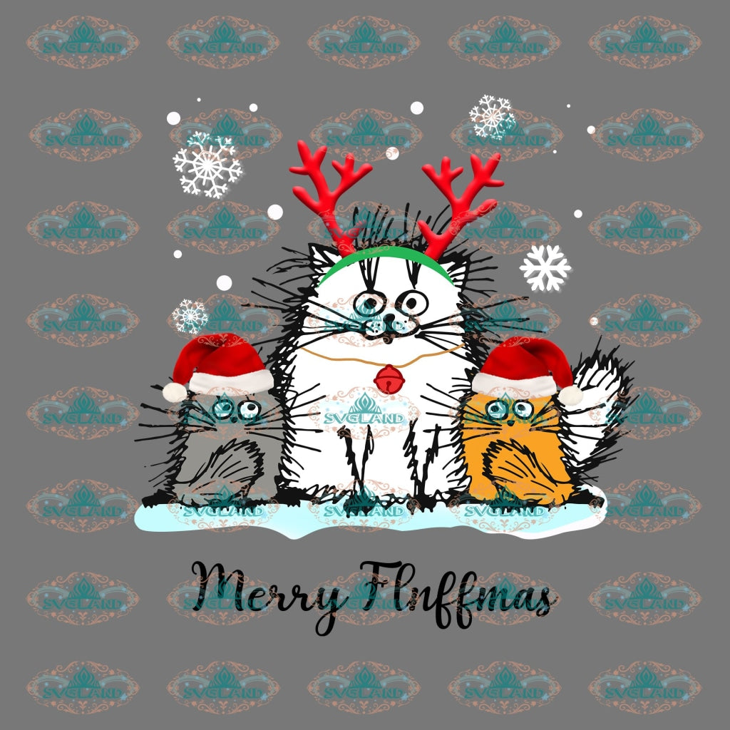 Merry Flnffmas Winter Christmas Gift Png Digital