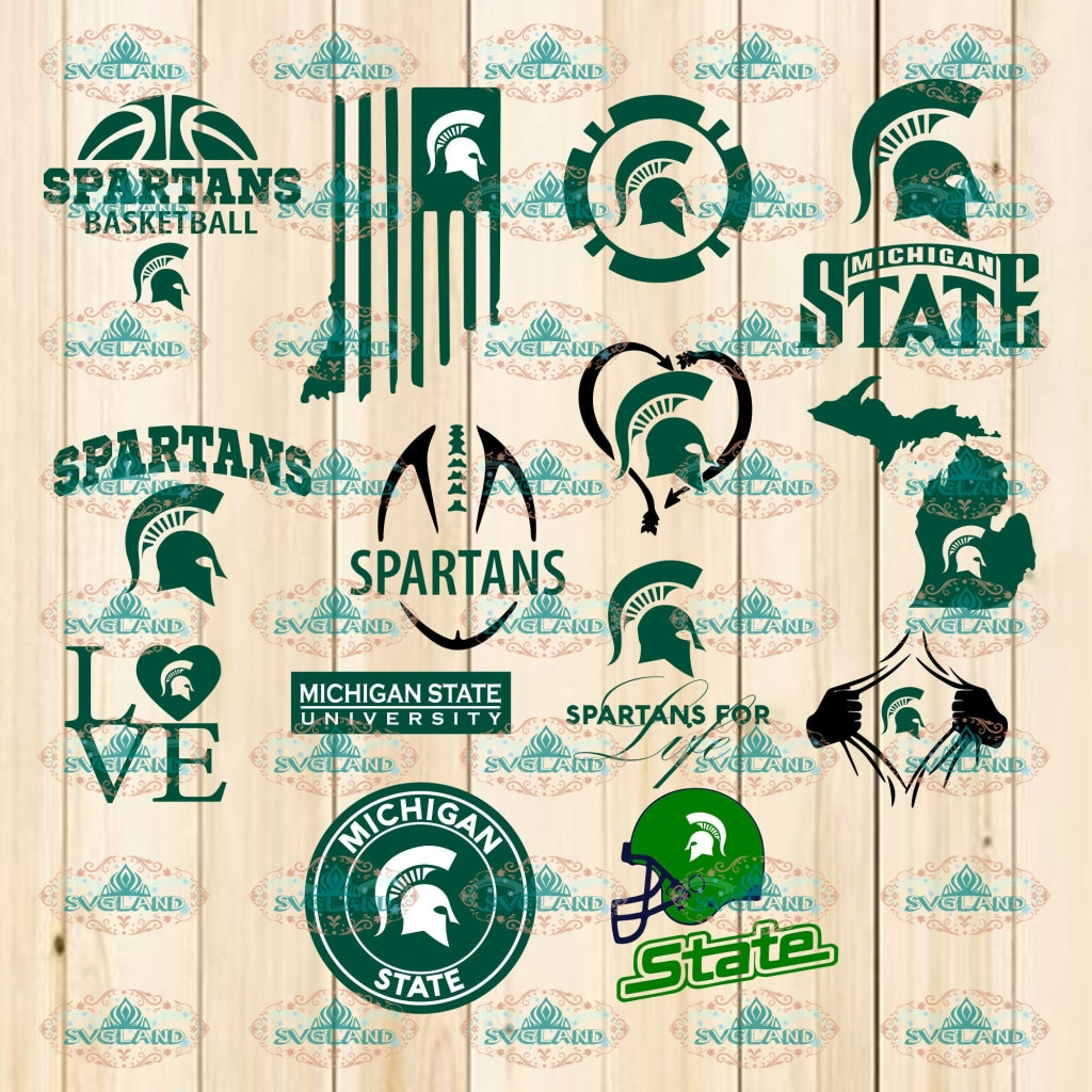 Michigan State Spartans Svg Svg Png Ncaa Sports Lovers Basketball Professional Team Digital
