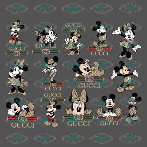 Mickey And Minnie Gucci Svg, Cricut File, Bundle, Disney Svg, Clipart, Gucci Svg, Brand Logo