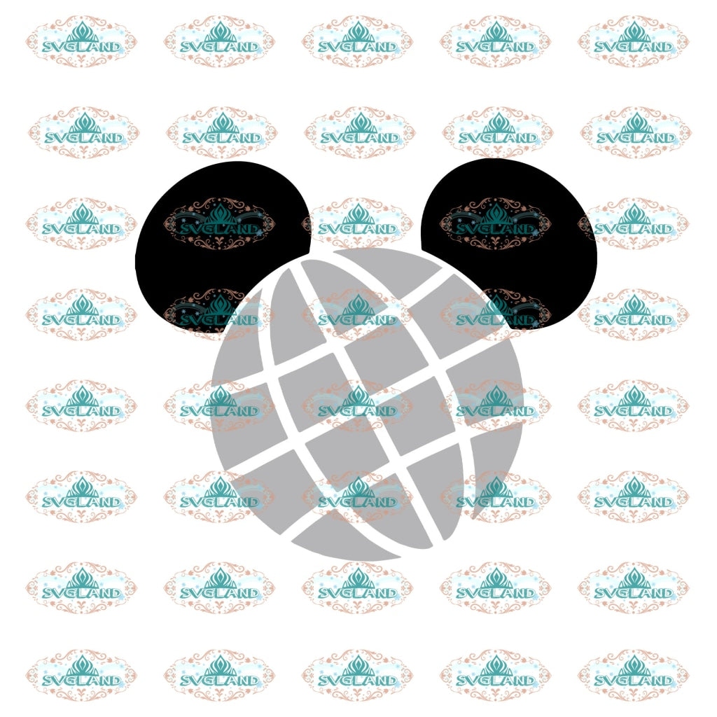 Mickey Globe Svg Minnie World Mickey Mouse Disney Disneyland File Digital
