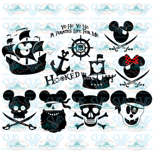 Mickey Pirate Svg Bundle Disney Cut File Clipart Digital