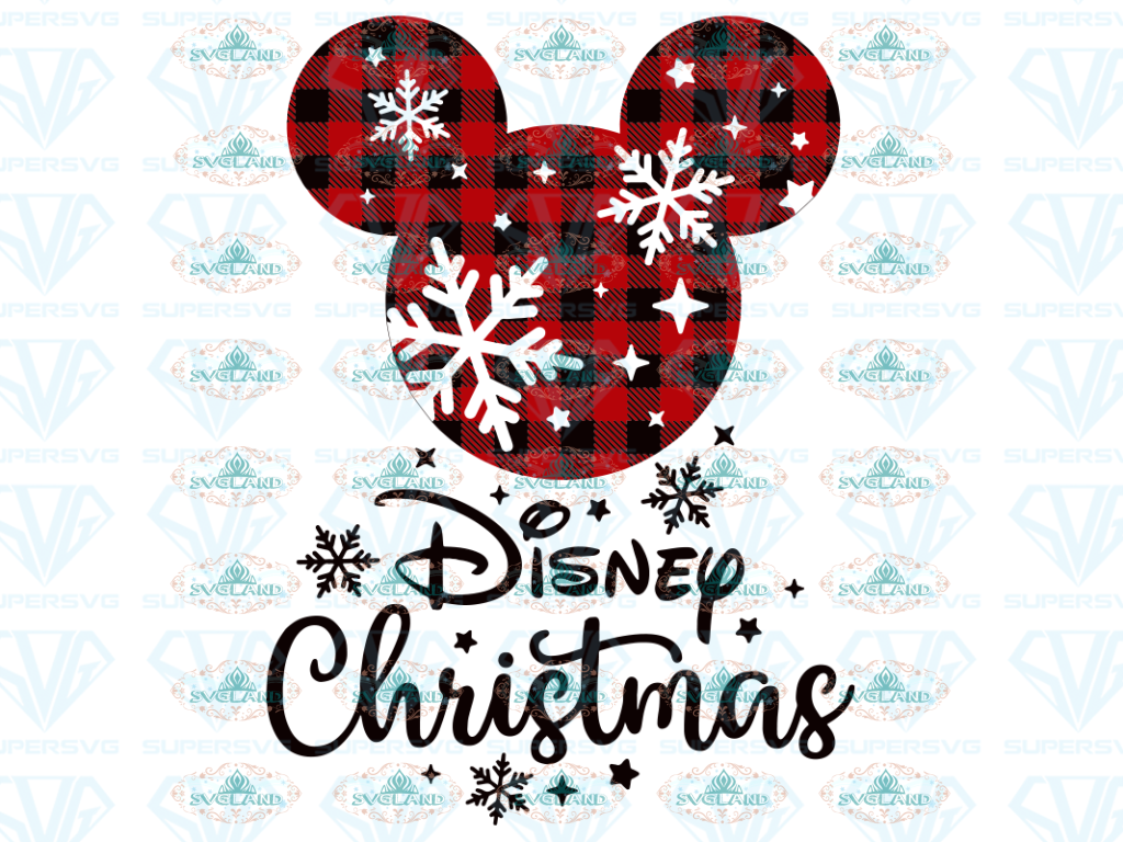Mickey Svg Disney Design Winter Christmas Gift Outfit Ornament Digital
