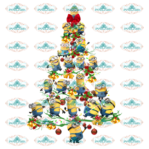 Minion Minion Design Christmas Tree Christmas Gift Outfit Ornament Png Digital