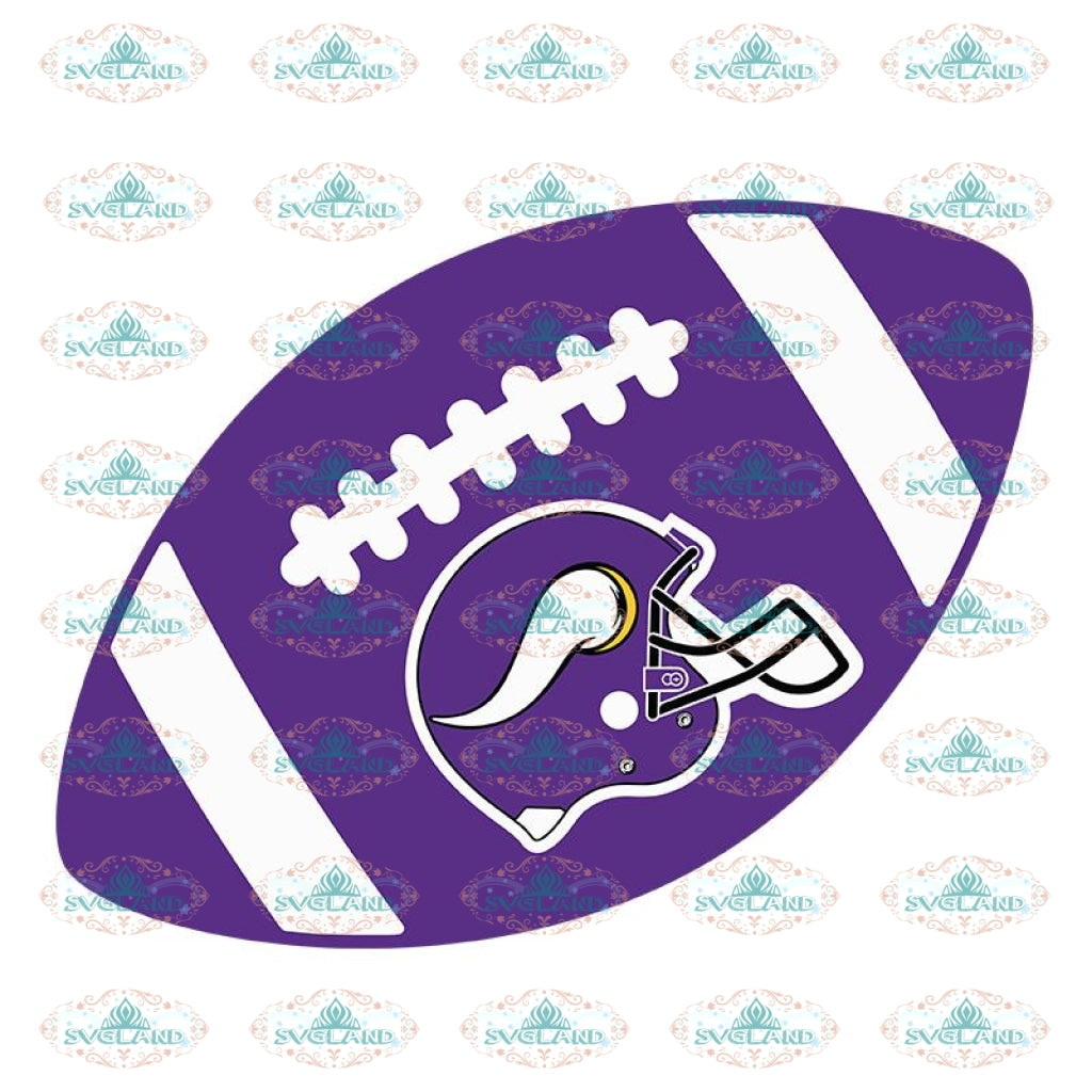 Minnesota Vikings Ball Svg, Love Vikings Svg, Cricut File, Clipart, NFL Svg, Football Svg, Sport Svg, Love Football Svg, Png, Eps, Dxf