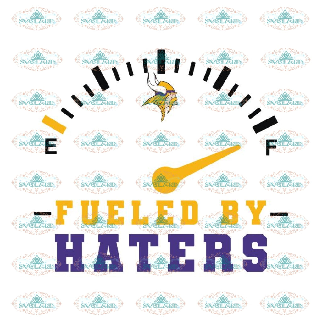 Minnesota Vikings Fueled By Haters Svg, Cricut File, Clipart, NFL Svg, Sport Svg, Football Svg