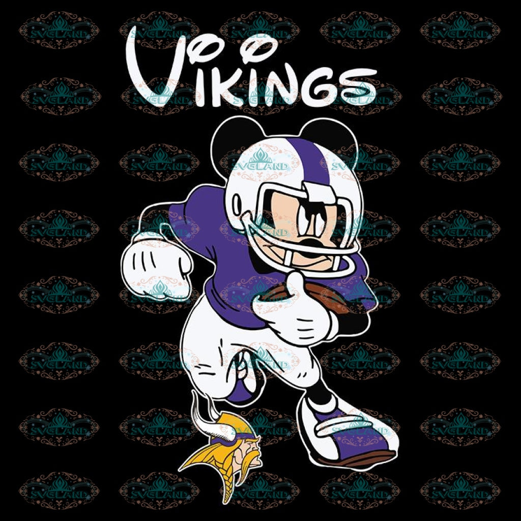 Minnesota Vikings Svg, Cricut File, Clipart, NFL Svg, Football Svg, Love Football Svg, Football Mom Svg, Silhouette, Mickey Svg, Png, Eps, Dxf