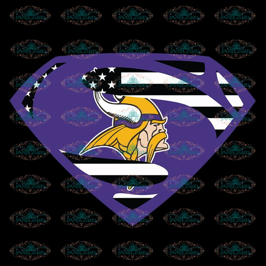 Minnesota Vikings Svg, Go Vikings Svg, Vikings Superman Svg, NFL Svg, Cricut File, Clipart, Leopard Svg, Sport Svg, Football Svg
